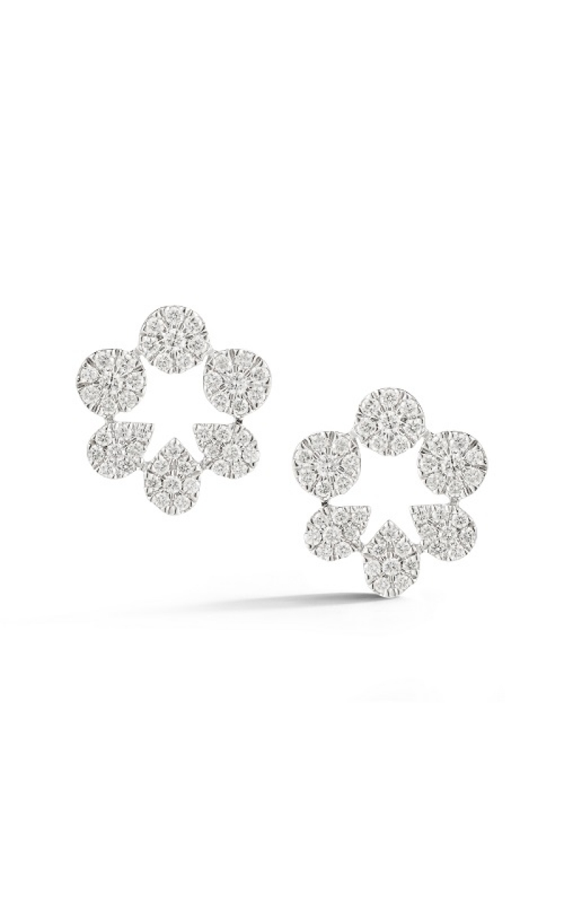 PAVE DIA CLUSTER EARRINGS 150-00770 product image