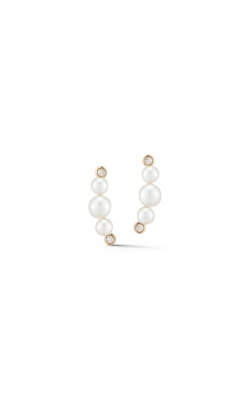 PEARL & DIAMOND STUD EARRINGS 310-05676 product image
