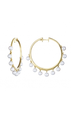 Pearl Hoop Earrings 310-00204 product image